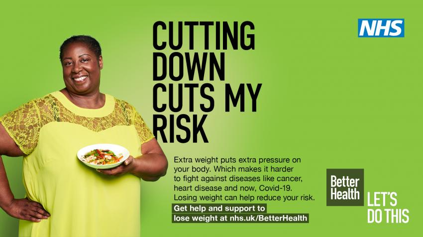 Poster about the campaign to help you eat healthier