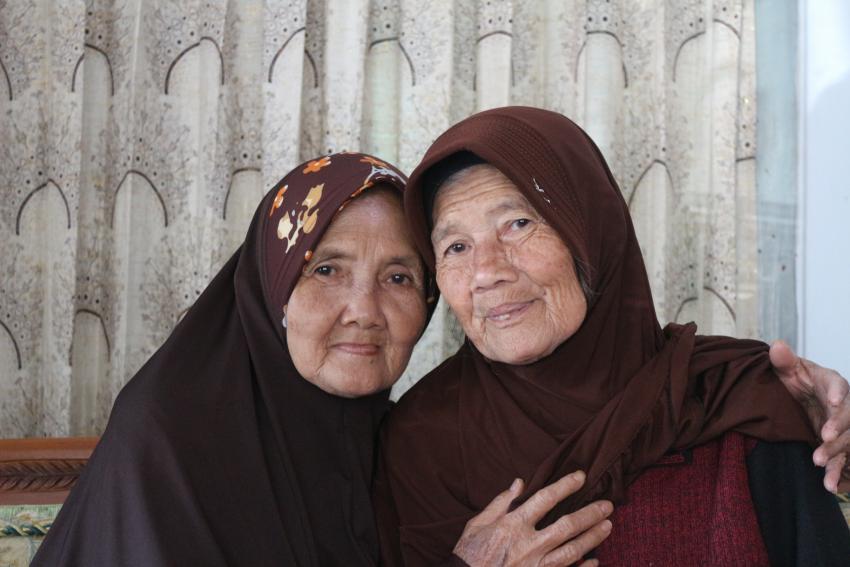 Photo of two eldery women
