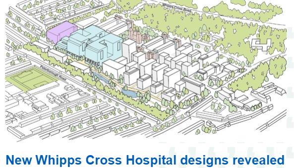 Sketch of new hospital