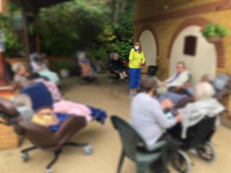 Residents of a Cambridge Nursing Home are doing chair-based exercise as part of our Fit for Fun project