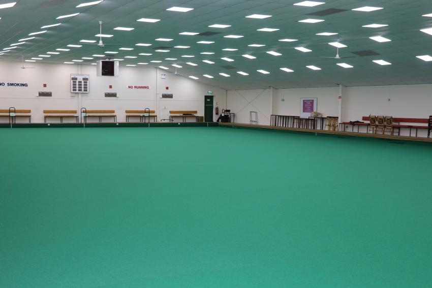 Picture of indoor bowls club