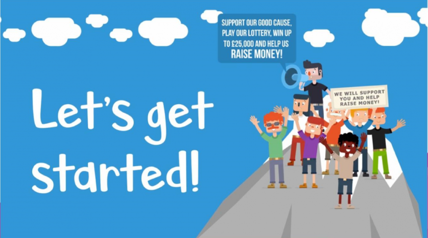 Image taken from the local lottery dashboard page- showing a digigal images of a few kids
