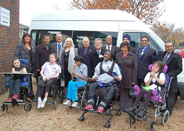 Newbridge School minibus