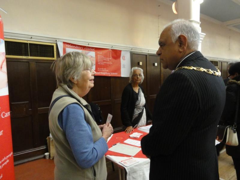 Pat Borrott with the Mayor