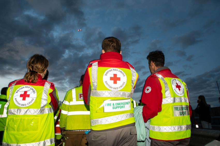 Image showing a few of the Red Cross's staff members