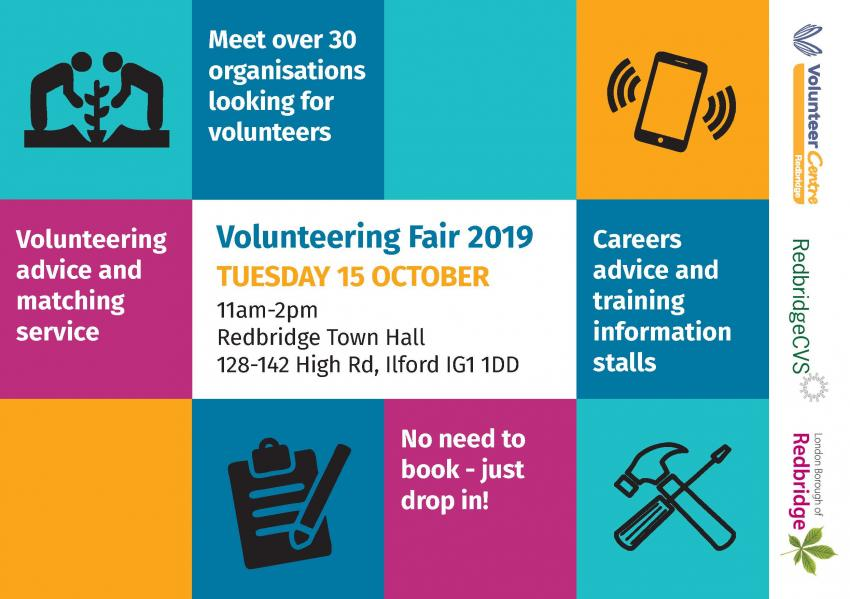 A leaflet showcasing the Volunteering Fair