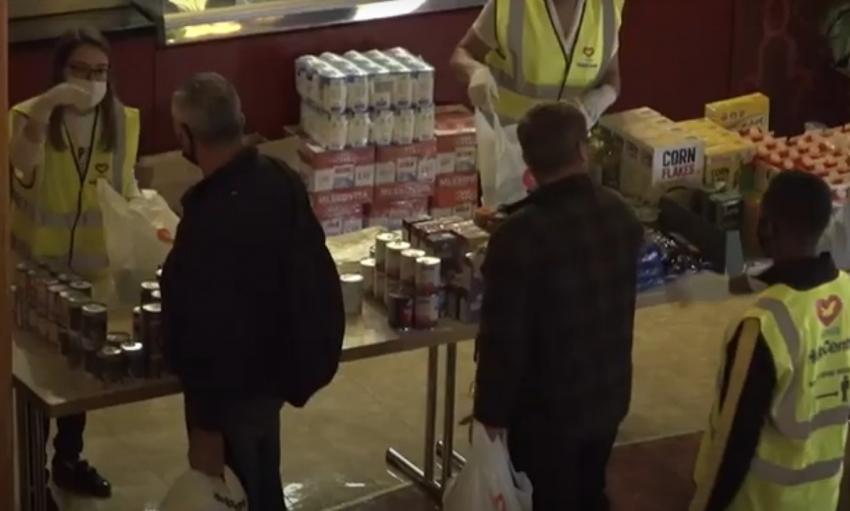 People at the food bank
