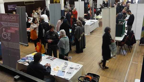 Picture showing the turn out at the volunteering fair from last year