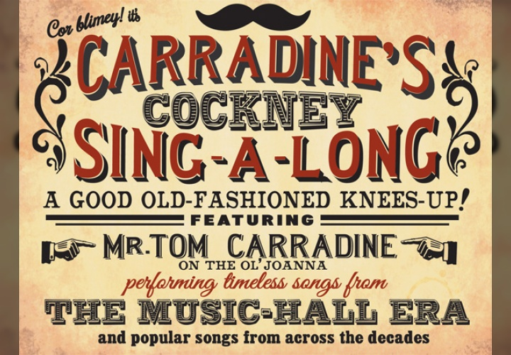 Carradine's Cockney sing-a-long