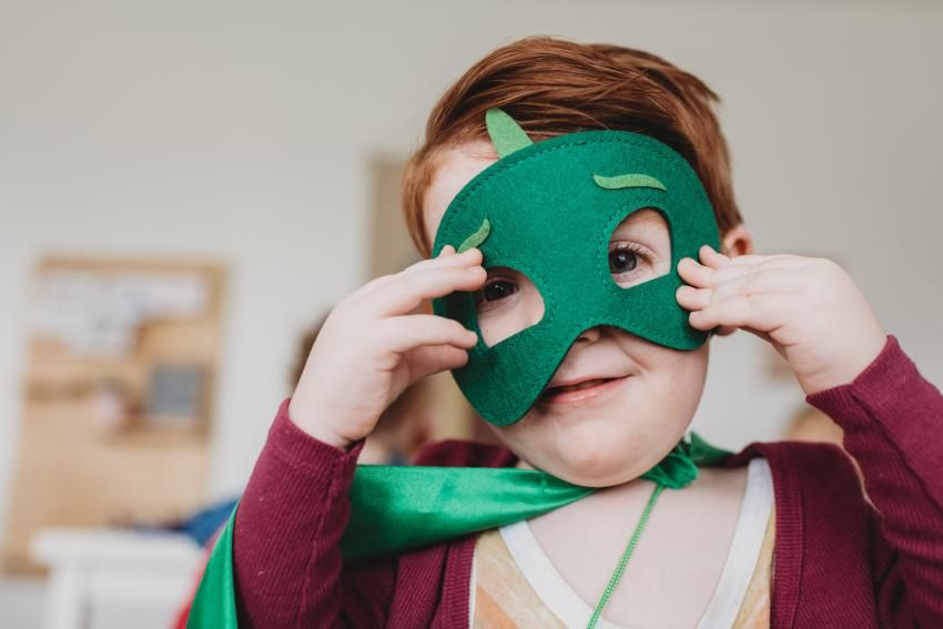 picture of a child in dress up