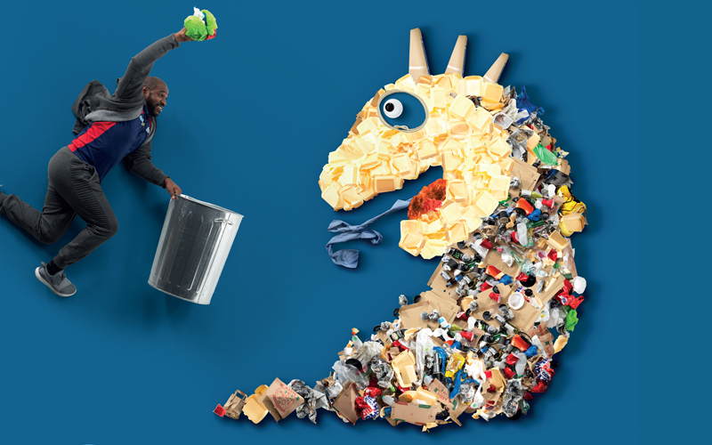Litter pick graphic
