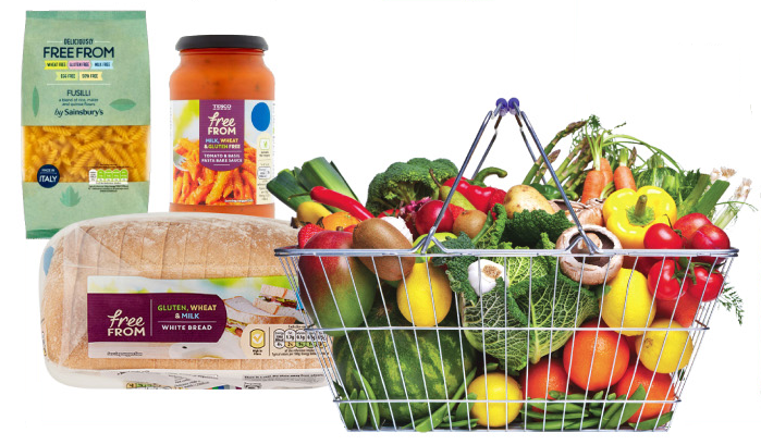 picture of free from food and other food items
