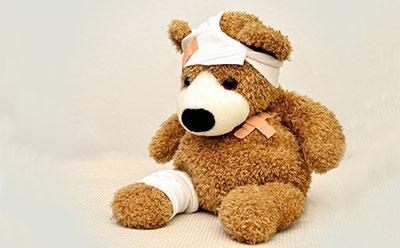 Teddy needs first aid
